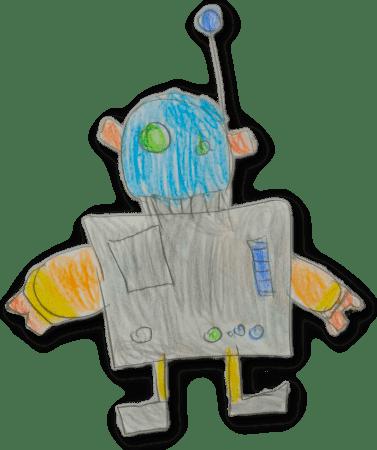 dibujo robot infantil